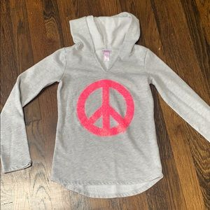 Girls justice size 7/8 hoodie